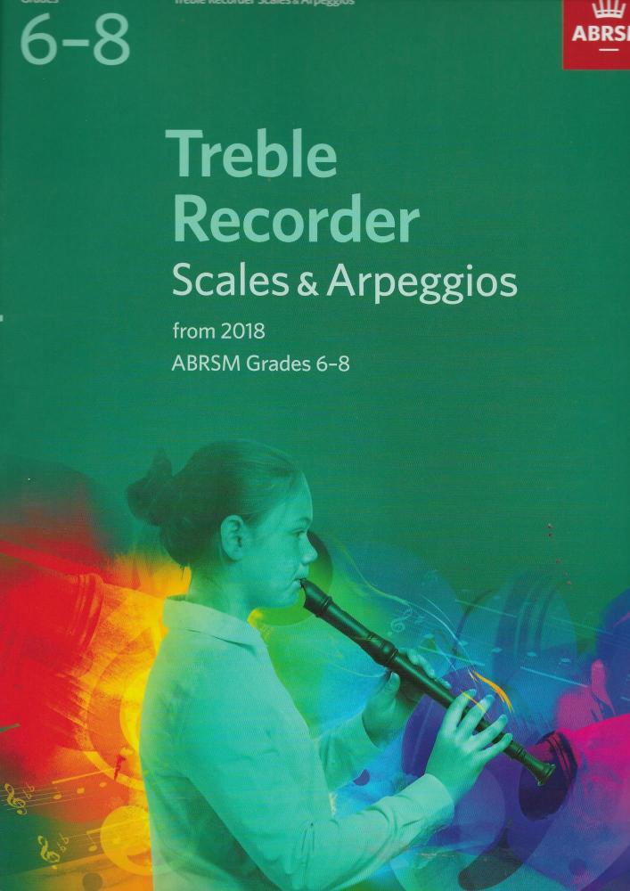 ABRSM: Treble Recorder Scales & Arpeggios, ABRSM Grades 6–8