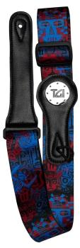 TGI Guitar Strap Tribal Mask Blue