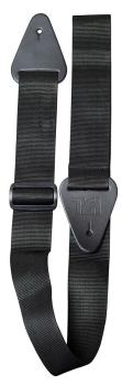 TGI Guitar Strap Woven Plain Black Extra Long
