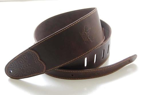 Whitestone and Willow Deluxe Series Leather Guitar Strap - Chocolate