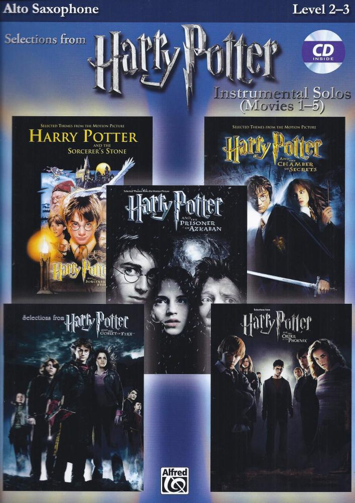 Harry Potter Movies 1 - 5 for Alto Sax Level 2 - 3