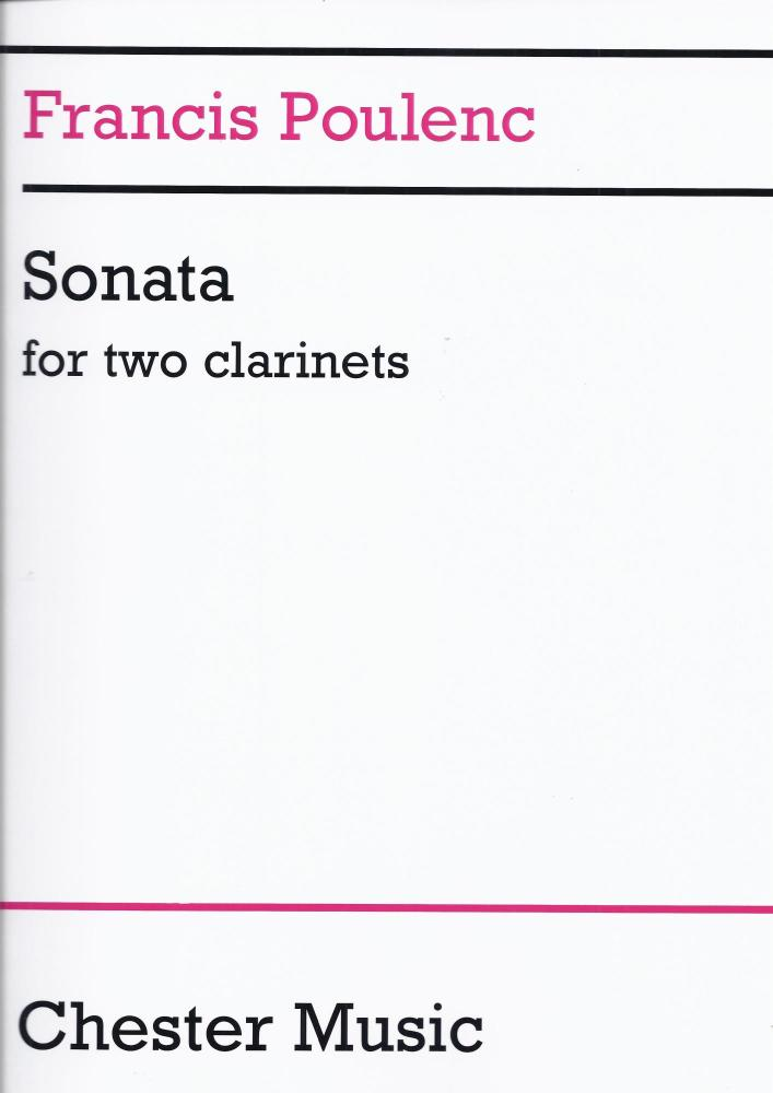 POULENC SONATA FOR TWO CLARINETS (IN B FLAT AND A) PLAYER'S SCORE CLT