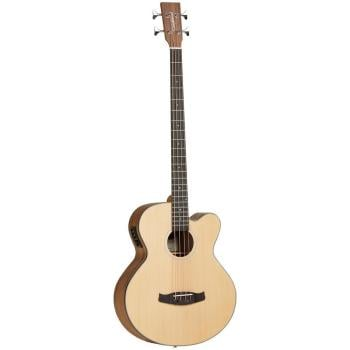 Tanglewood Acoustic Bass Cutaway Spruce Top, Black Walnut Back and Sides Satin Finish EQ