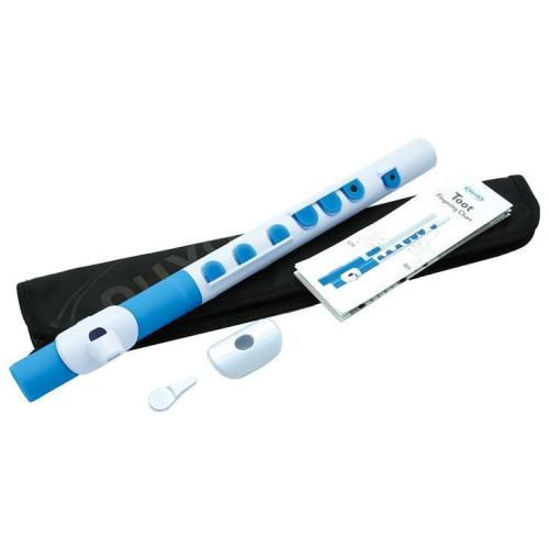 Toot in white with blue trim
