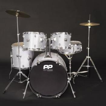 PP 5PC Fusion Drum Kit - Silver