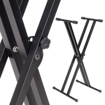 Kinsman Double Frame Keyboard Stand - Black