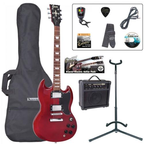 Encore Electric Guitar Outfit - Cherry Red
