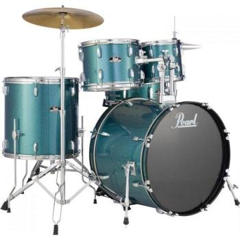 Pearl Roadshow 5 Piece Drum Kit Aqua Blue Glitter