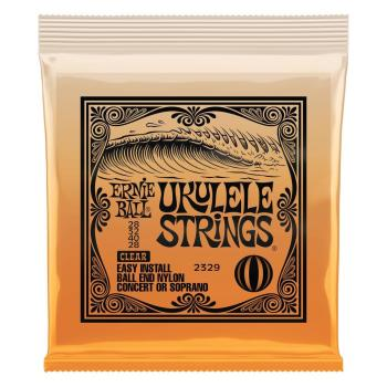 Ernie Ball Concert/Soprano Nylon Ball End Ukulele String Set - Clear