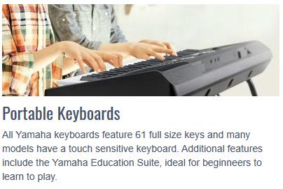 PSR-E Keyboards