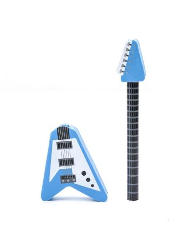 Guitar Pencil and Eraser Mix Red or Blue