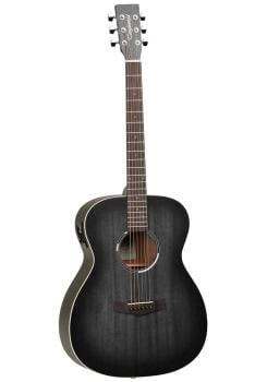 Tanglewood Blackbird Folk Guitar - Smokestack Black Satin EQ