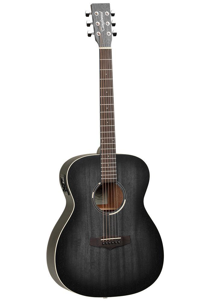 Tanglewood Blackbird Folk Guitar - Smokestack Black Satin EQ