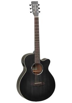Tanglewood Superfolk Cutaway Guitar EQ - Smokestack Black Satin EQ