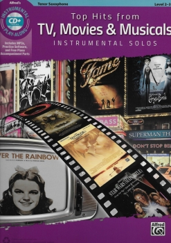 Alfred's Instrumental Play-Along: Top Hits From TV, Movies & Musicals - Tenor Saxophone (Book/CD)