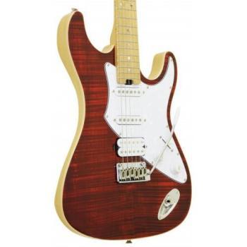 Aria 714 MK2 Electric Guitar, Ruby Red