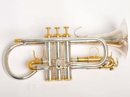 Sterling Virtuoso Cornet - Silver Plate, Heavy Bell, Main Tuning Slide, Gol
