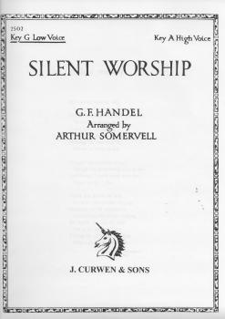 Handel: Silent Worship In G