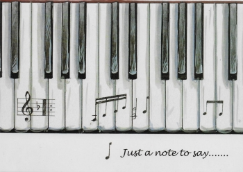 Little Snoring Gifts: 7x5 Greetings Card - Piano Keys Design