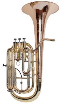Geneva Oldroyd Cardinal Baritone Horn - Nickel, Rose Brass