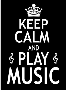 7x5 Greetings Card - Keep Calm And Play Music