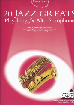 Guest Spot: 20 Jazz Greats Playalong For Alto Saxophone (Book/Audio Download)