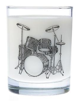 Drum Set Glass Tumbler