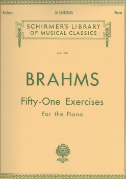 Johannes Brahms: Fifty-one Exercises For The Piano