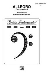 Allegro from Sonata No. 3 for Tuba - Antonio Vivaldi arr. Ken Swanson