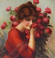 Lady with roses