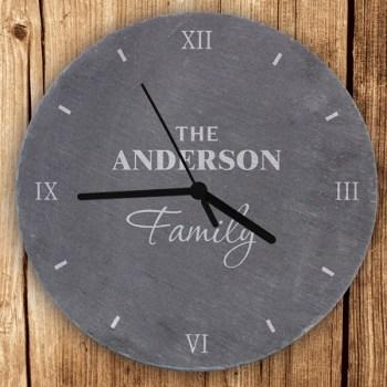 Family Slate Clock