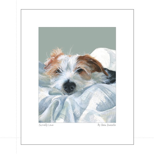 Scruffy love Art Print