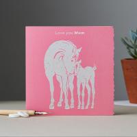 Love You Mum Pink Card