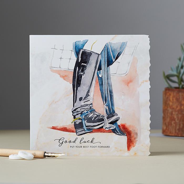 Good luck – put your best foot forward Card