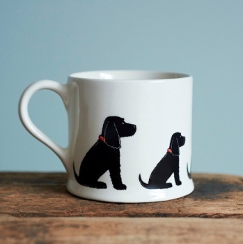 Black Cocker Spaniel Mug.