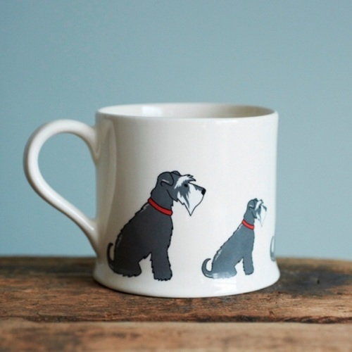 Schnauzer Bone China Mug.