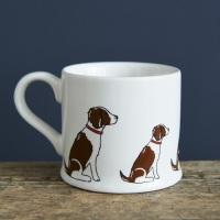 Liver and White Spaniel Mug.