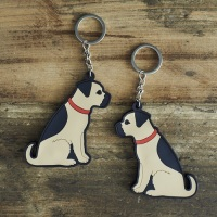 Border Terrier Key Ring
