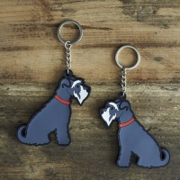Grey Schnauzer Key Ring