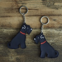 Black Schnauzer Key Ring
