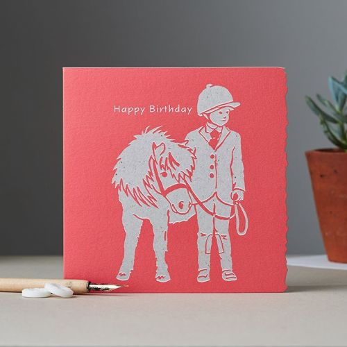 Happy Birthday - Child Leading Pony