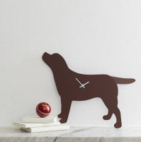 Chocolate Labrador Clock