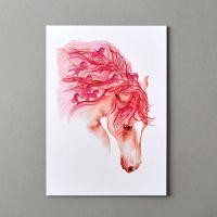 Pink Ponies in Mane Print