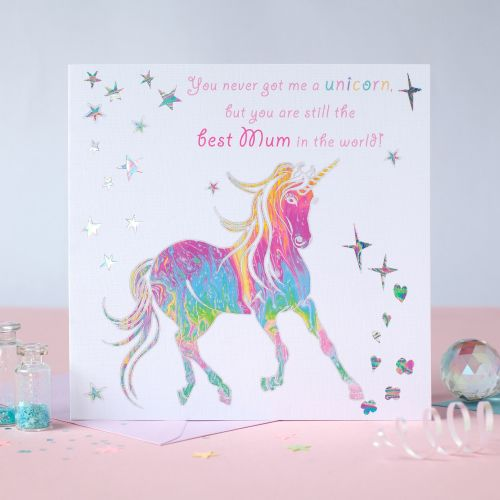 Unicorn Best Mum Card