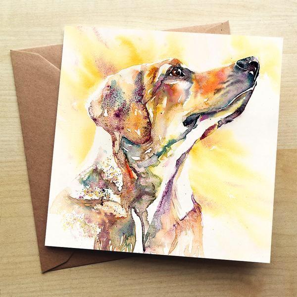 Golden Labrador Card