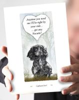 Cupboard Love Black Cocker Spaniel Card
