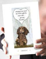 Cupboard Love Brown Cocker Spaniel Card