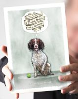Tennis Ball Liver & White Springer Card