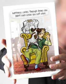 Doors You Left Open Springer Spaniel Card