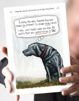 'Properly Trained' Black Labrador Card